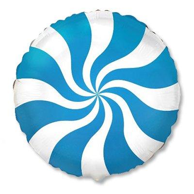 """Шар 18"""" конфета голубая 1202-2105"""