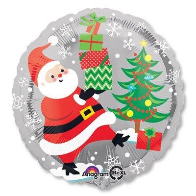 "Шар 18"" Санта, Снеговик и Пингвины 1202-2108"