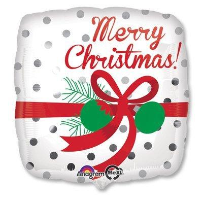 """Шар 18"""" Горошек Рождество 1202-2110"""