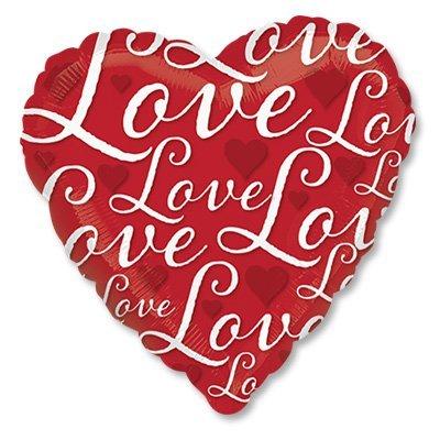 "Шар 18"" Love Сердце красное 1202-2251"