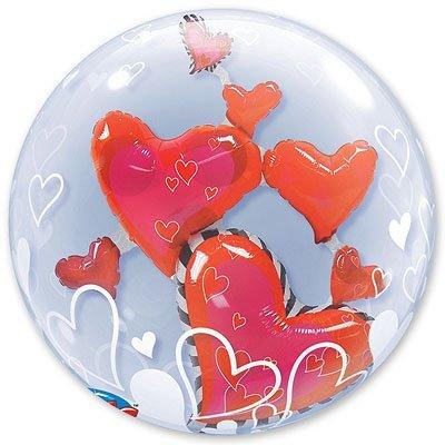 Шар в шаре BUBBLE Парящие Сердца 1203-0275