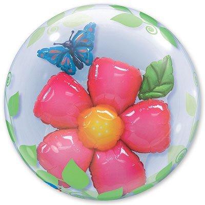 Шар в шаре BUBBLE Цветок и Бабочка 1203-0276