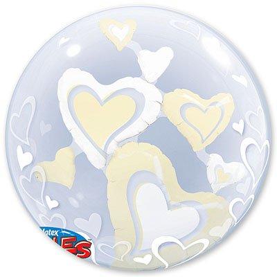 Шар в шаре BUBBLE Парящие Сердца Ivory 1203-0392