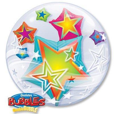 Шар BUBBLE ИНСАЙДЕР Звезды разноцветные 1203-0541