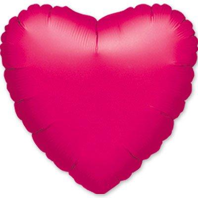 "Шарик 18"" сердце металлик Fuchsia 1204-0028"