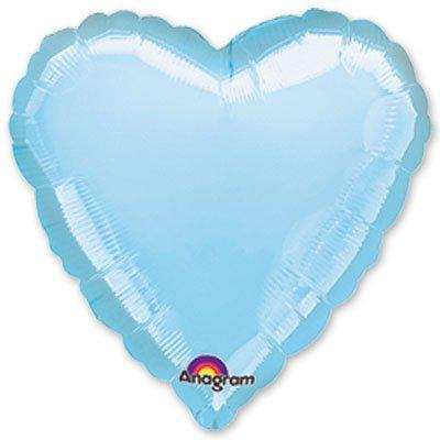 """Шарик 18"""" сердце пастель Blue 1204-0038"""