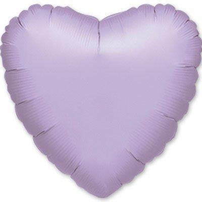 """Шарик 18"""" сердце пастель Lilac 1204-0039"""