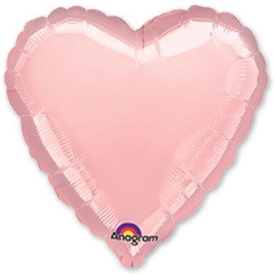 """Шарик 18"""" сердце пастель Pink 1204-0040"""