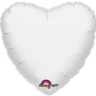 "Шарик 18"" сердце пастель White 1204-0041"