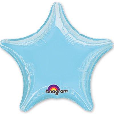 """Шарик 19"""" звезда пастель Blue 1204-0053"""