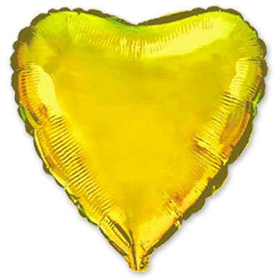 "Шарик 4"" сердце металлик Gold 1204-0071"