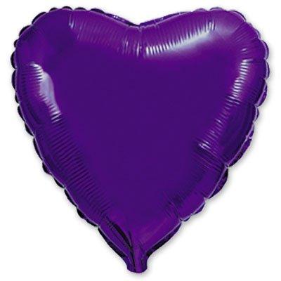 "Шарик 4"" сердце металлик Violet 1204-0076"
