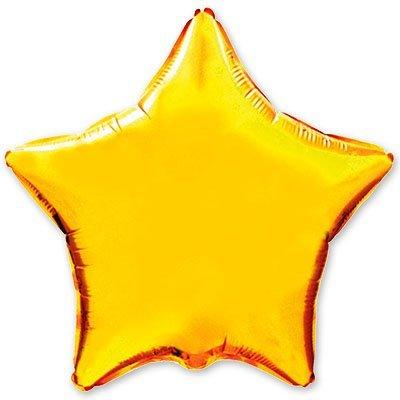 "Шарик 18"" звезда металлик Gold 1204-0097"