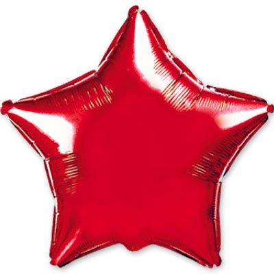 "Шарик 32"" звезда металлик Red 1204-0108"