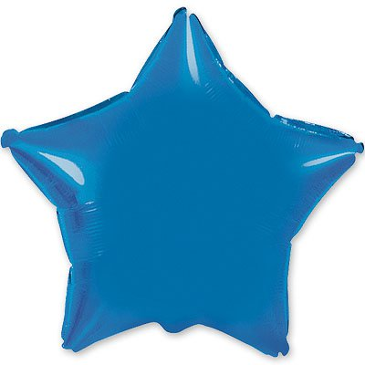 "Шарик 4"" звезда металлик Blue 1204-0134"