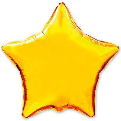 "Шарик 4"" звезда металлик Gold 1204-0135"