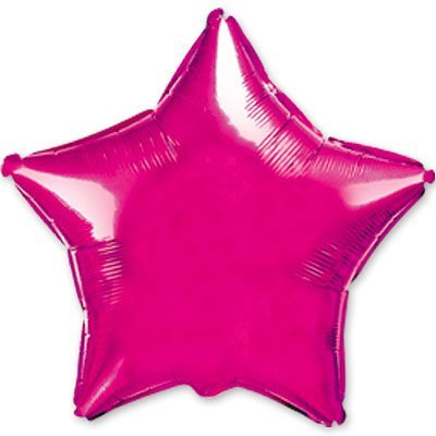 """Шарик 4"""" звезда металлик Purple 1204-0137"""