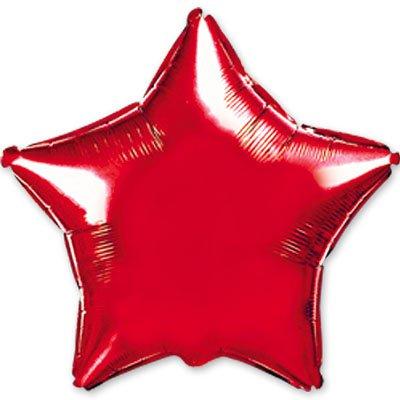 "Шарик 4"" звезда металлик Red 1204-0138"