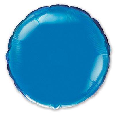 "Шарик 4"" круг металлик Blue 1204-0145"