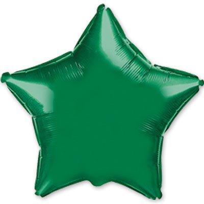 """Шарик 9"""" звезда металлик Green 1204-0158"""