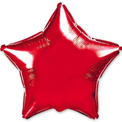 "Шарик 9"" звезда металлик Red 1204-0160"