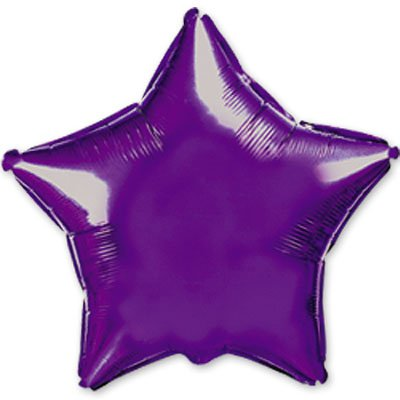 "Шарик 9"" звезда металлик Violet 1204-0162"