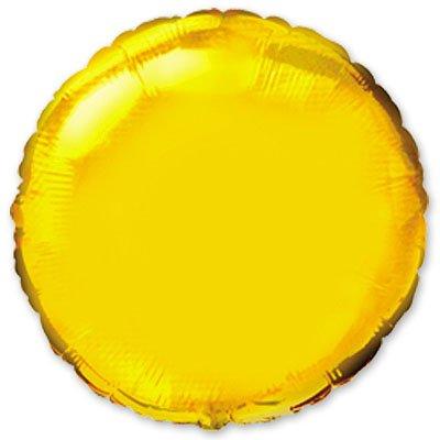 """Шарик 9"""" круг металлик Gold 1204-0164"""