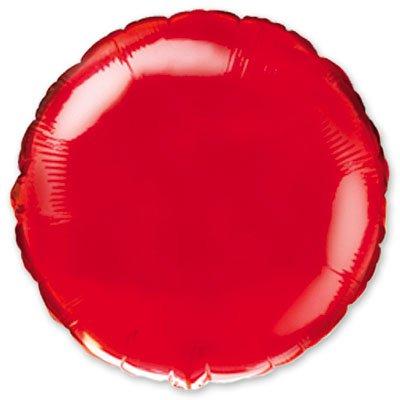 """Шарик 9"""" круг металлик Red 1204-0167"""
