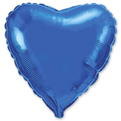 "Шарик 9"" сердце металлик Blue 1204-0170"