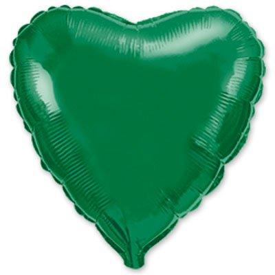 "Шарик 9"" сердце металлик Green 1204-0172"