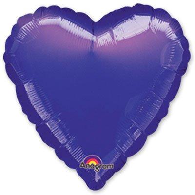 "Шарик 18"" сердце металлик Purple 1204-0182"