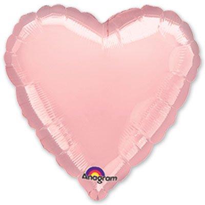 "Шарик 18"" сердце металлик Pink 1204-0223"
