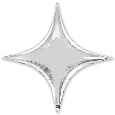 "Шарик 40"" звезда 4х-конечная Silver 1204-0301"