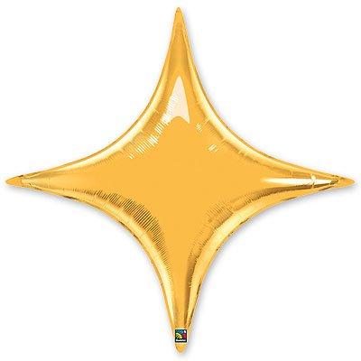 "Шарик 20"" звезда 4х-конечная Gold 1204-0370"