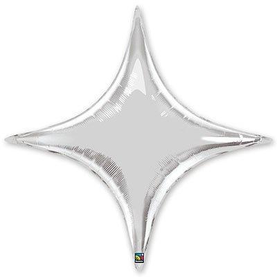 "Шарик 20"" звезда 4х-конечная Silver 1204-0371"