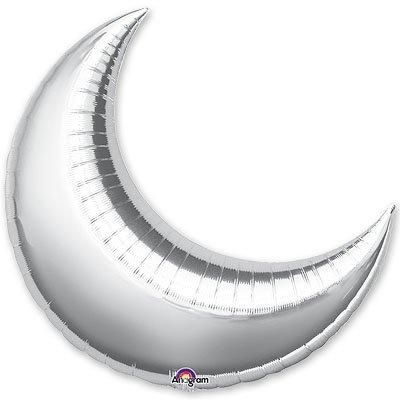 "Шарик 17"" месяц металлик Silver 1204-0404"