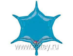 """Шар шестиконечник 22"""" металлик Blue 1204-0451"""