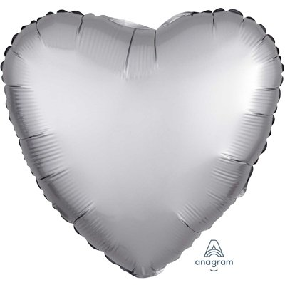 """Шар СЕРДЦЕ 18"""" Сатин Platinum 1204-0632"""