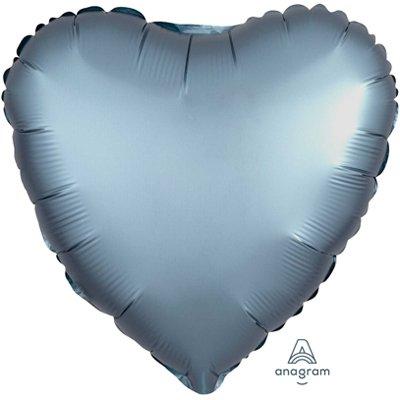 "Шар СЕРДЦЕ 18"" Сатин Steel Blue 1204-0634"
