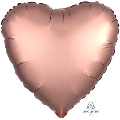 """Шар СЕРДЦЕ 18"""" Сатин Rose Copper 1204-0636"""
