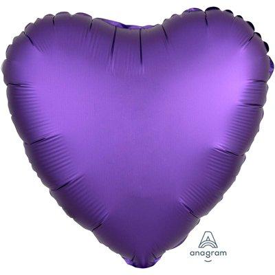 """Шар СЕРДЦЕ 18"""" Сатин Purple Roayle 1204-0638"""