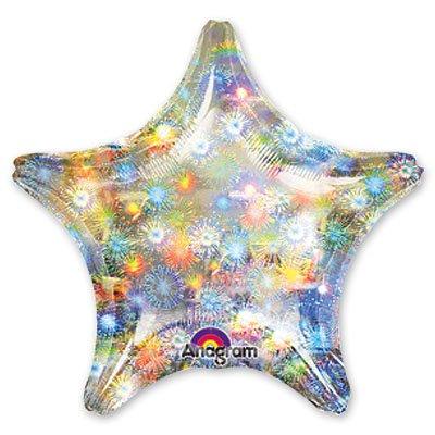 "Шарик блеск 19"" звезда Fireworks 1205-0043"