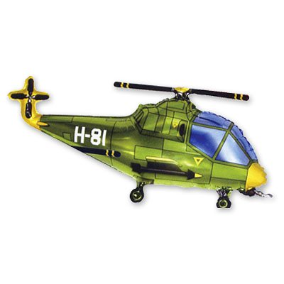 Мини Фигура Вертолет зеленый 1206-0350