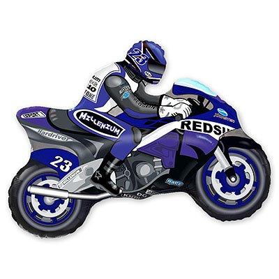 Мини Фигура Мотоциклист синий 1206-0359