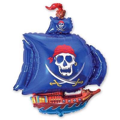 Мини Фигура Корабль пиратский синий 1206-0390