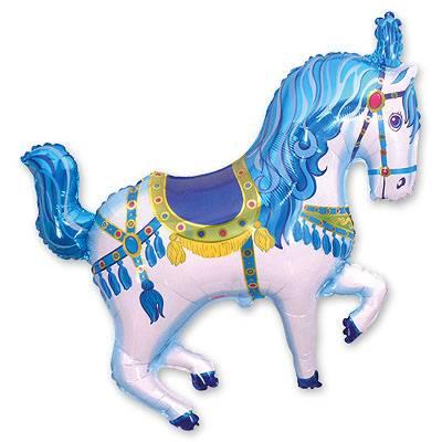 Мини Фигура Лошадь цирковая голубая 1206-0540