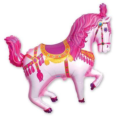 Мини Фигура Лошадь цирковая розовая 1206-0542