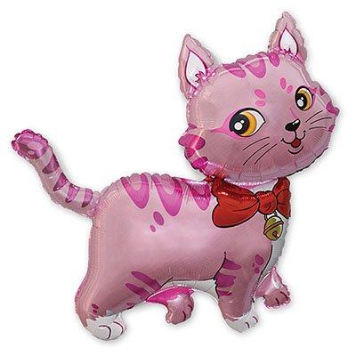 Фигура мини Кошечка с бантом розовая 1206-0592