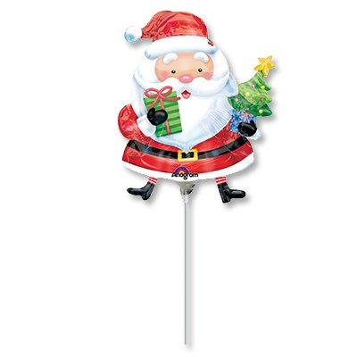 Мини фигура Санта с елкой 1206-0605