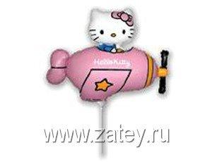 Мини-фигура Hello Kitty самолет розовый 1206-0640